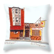 The Del Rose Throw Pillow
