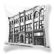 The Denver Block Helena Montana Throw Pillow