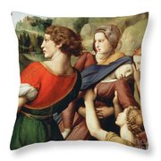The Deposition, Detail, 1507 Throw Pillow