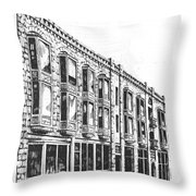 The Diamond Block Helena Montana Throw Pillow