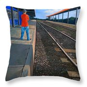 The Distance Of Solitude Throw Pillow