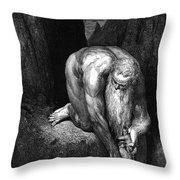 The Divine Comedy, By Dante The Giant Antaeus Throw Pillow