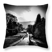 The Dog Walkers Throw Pillow