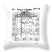 The Dorrie Decimal System Throw Pillow