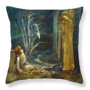 The Dream Of Lancelot Study Throw Pillow