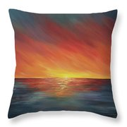 The Edge Of Sunset Throw Pillow