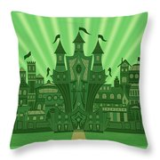 The Emerald City Throw Pillow