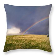 The Enchanted Tractor Throw Pillow by Carl Young