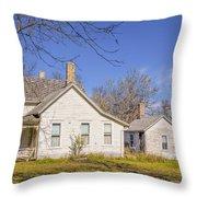 The Farmhouse, Washhouse And Garage Throw Pillow