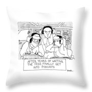 The Feds Get Into Podcasts Throw Pillow