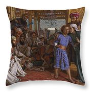 The Finding Of The Savior At The Temple Throw Pillow