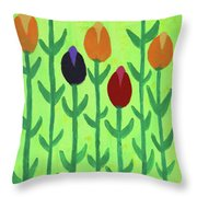 The First Sign Of Spring Throw Pillow by Deborah Boyd