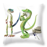 The Fishing Tale Throw Pillow