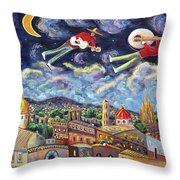 The Flying Mariachis Throw Pillow