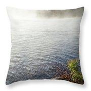 The Fog Rolls  Throw Pillow