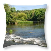 the ford at Etal on river Till Throw Pillow
