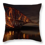 The Forth Bridge Throw Pillow by Ross G Strachan