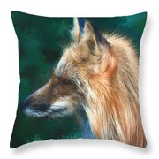 The Fox 235 - Painting Throw Pillow