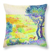 The Full Of Bormes - Digital Remastered Edition Throw Pillow