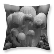 The Funghi Family Throw Pillow