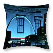 The Gateway Arch And The City Throw Pillow