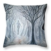 The Ghost Of A Loved One Throw Pillow