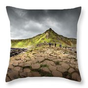 The Giants Causeway Throw Pillow by Chris Cousins