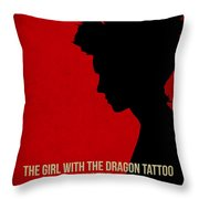 The Girl With A Dragon Tattoo Throw Pillow