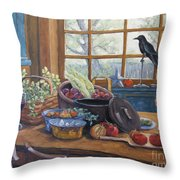 The Good Harvest Country Kitchen By Richard Pranke Throw Pillow