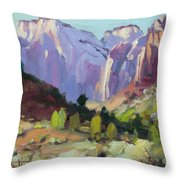 The Halls Of Zion Throw Pillow by Steve Henderson
