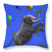 The Happiest Elephant Throw Pillow