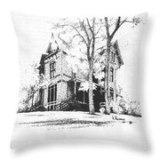 The Hauser Mansion, Helena, Montana Throw Pillow
