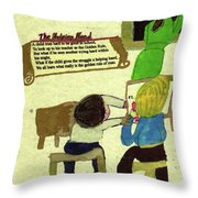 The Helping Hand Throw Pillow