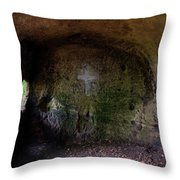 The Hermit's Cross Throw Pillow
