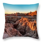 The High And Low Of The Badlands Throw Pillow