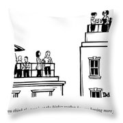 The Higher Rooftop Throw Pillow