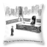 The Human Bond Throw Pillow