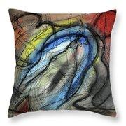 The Hump Throw Pillow by Mark Jordan