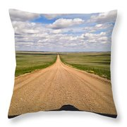 The Joy Of Driving Throw Pillow by Carl Young