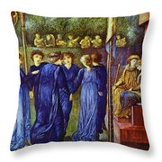 The King Wedding 1870 Throw Pillow