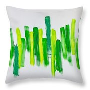 The Kingdom Of Green Throw Pillow