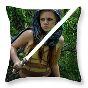 The Knowing Throw Pillow by Ron Cline