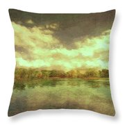 The Lake - Panorama Throw Pillow
