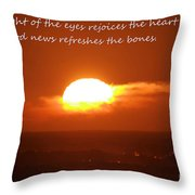 The Light Of The Eyes Throw Pillow