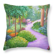 The Lilac Path - Rest Awhile Throw Pillow