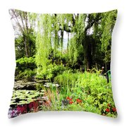 The Lily Pond Trail Throw Pillow