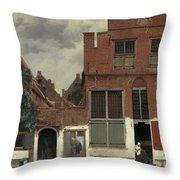 The Little Street, 1658 Throw Pillow