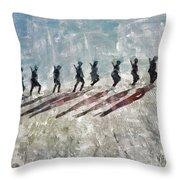 The Long Walk, World War Two Throw Pillow