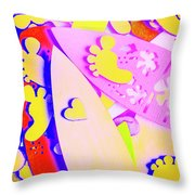 The Love Wave Throw Pillow