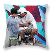 The Male Connection Throw Pillow